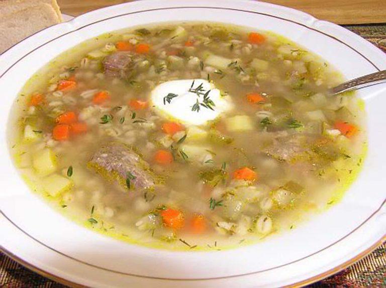 Суп рассольник в скороварке